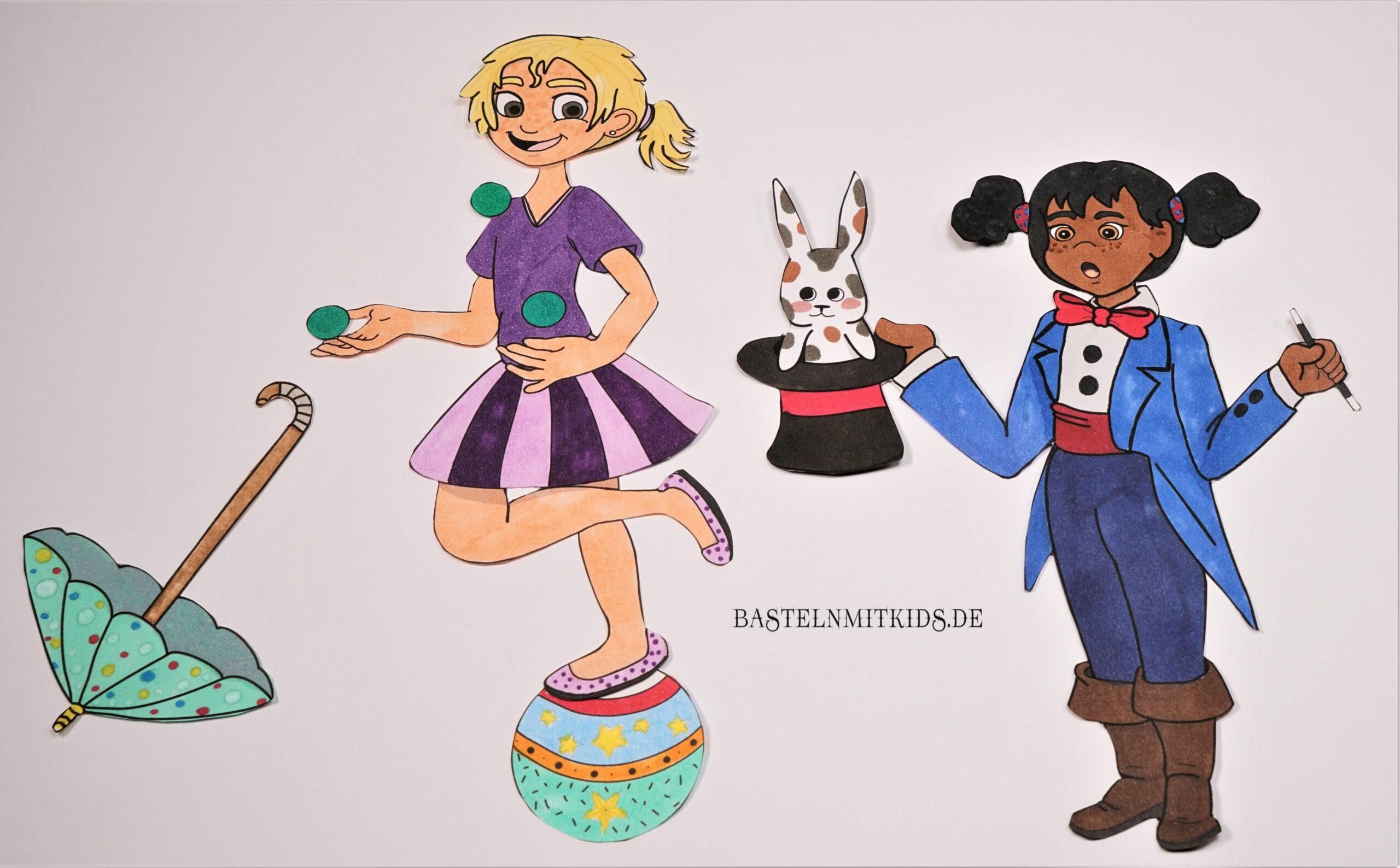 malvorlage zirkus mix  basteln mit kids shop